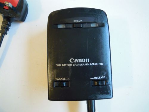 CANON DUAL BATTERY CHARGER/HOLDER CH-910